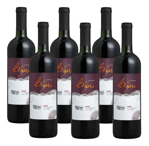 Kit 6 Vinhos Orgânicos Tintos Suave Bordô 720ml
