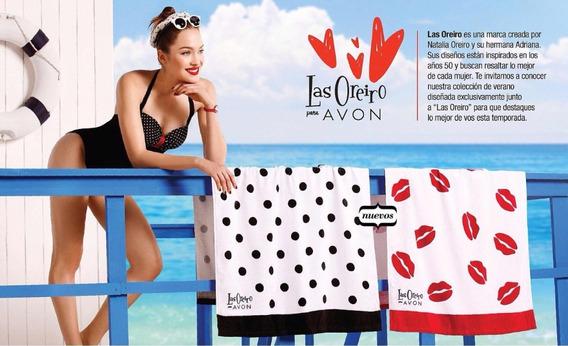 Kit De Playa Las Oreiro Para Avon. Toalla Y Ojotas