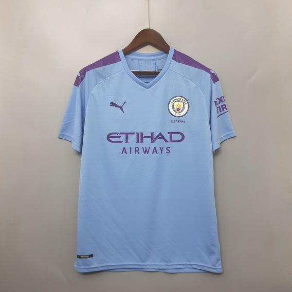 Camisa Manchester City 19/20 Home - De Bruyne, Sterling, Etc
