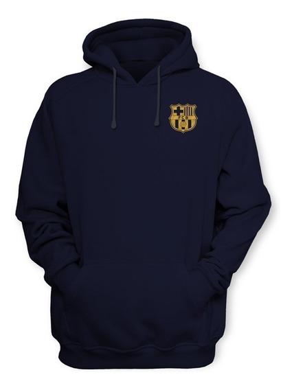 Sudadera Barcelona Fc Futbol Club Con Gorro Y Cangurera