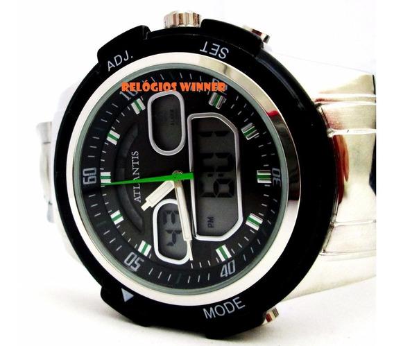 Relógio Masculino Original, Atlantis Modelo G -3208,inox Box