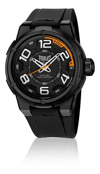 Relógio Masculino Everlast Esporte E688 48mm Silicone Preto