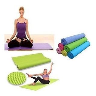 Tapete Colchoneta Yoga Pilates Ejercicios Fitnes A Domicilio