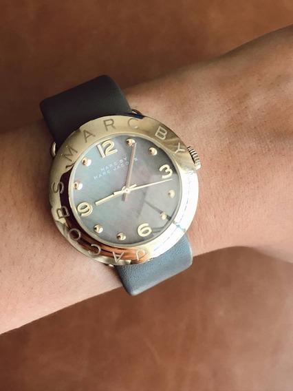 Relógio Original Da Marca Marc Jacobs Com Pulseira De Couro