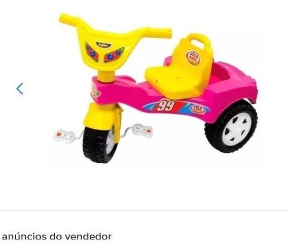 Velocípede Infantil Triciclo Velotrol Stilo Azul Até 6 Anos