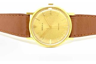 Reloj Rolex Precision De Oro 18kt Y Cuero