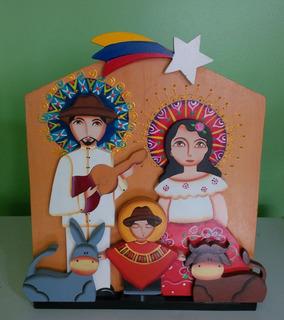 Decoracion Exclusiva Artesania Nacimiento Pesebre Venezolano