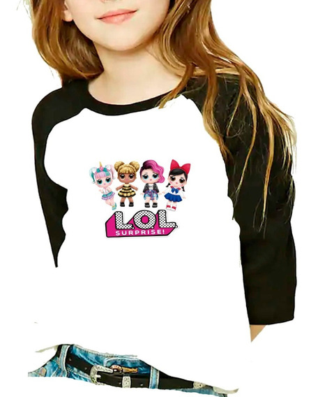Playera Raglan Niña 4 Lol Surprise