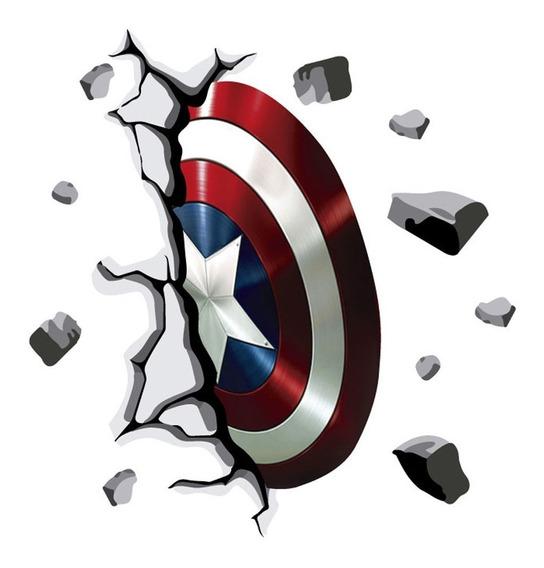 Vinilos Decorativos Escudo Capitan America Superheroe