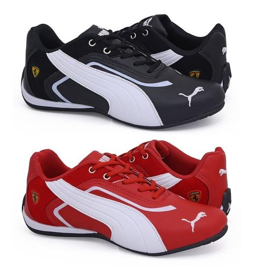 Combo Tenis 2pares Ferrari Para Corrida Esporte Sua Escolha