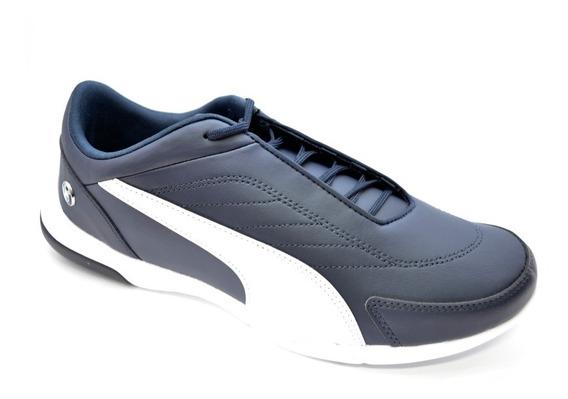 Zapatillas Puma Moda Bmw Mms Kart Cat Iii Negro Blanco Azul