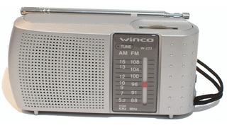 Radio Portatil A Pilas Am Fm Winco W223