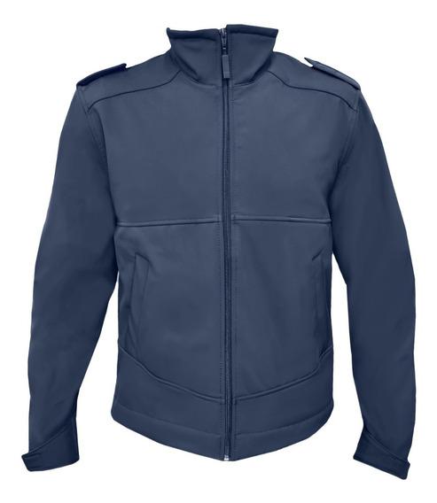 Campera Softshell Clásica Azul Policial