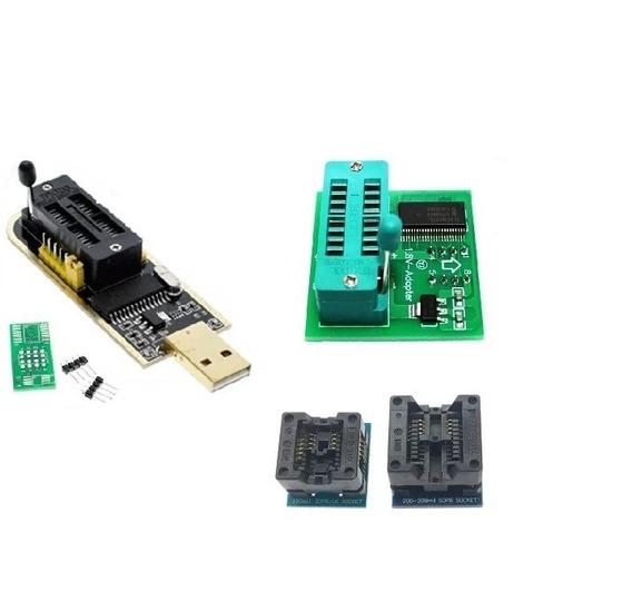 Kit Gravador Eprom Ch341a Pro Ch341 + 1.8v + Adaptadores
