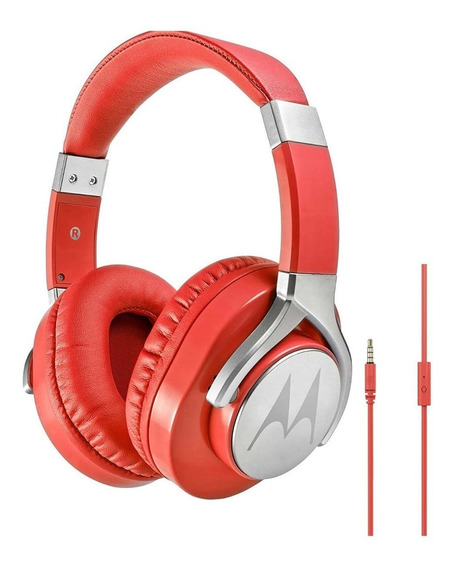 Fone De Ouvido Motorola Pulse Max Wired C/microfone Vermelho
