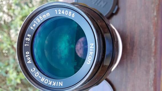 Lente Nikon 135mm 3.5 Ai - Analogica - Impecável Arijc2