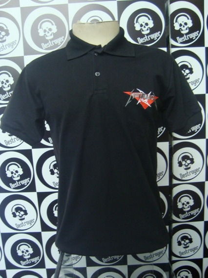 Camiseta Polo - Metallica (logo Bordado)