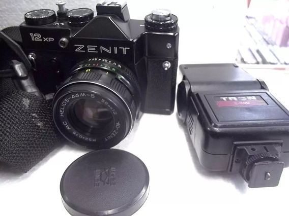 Camera Fotográfica Zenith12xp + Flash + Bolsa
