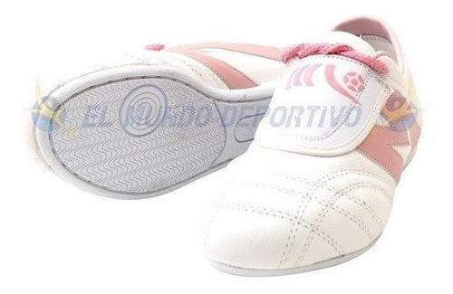 2965-tenis Artes Marciales Manriquez Tae Kid Bco/rosa