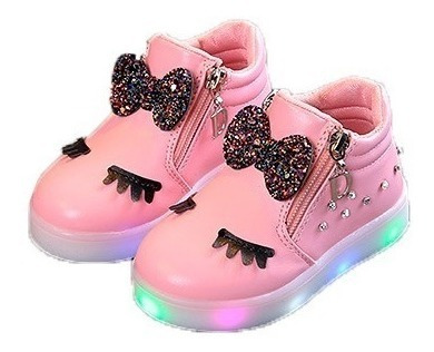 Sapato Tênis Menina Infantil Pisca Pisca Importado Fashion