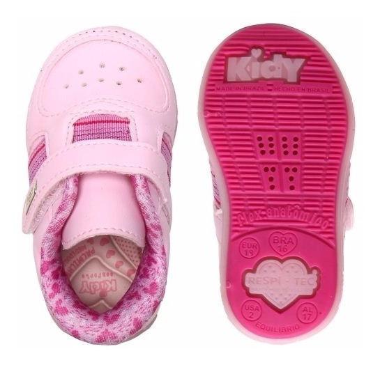 Tenis Menina Feminino Infantil Sintetico Rosa Kidy 0008