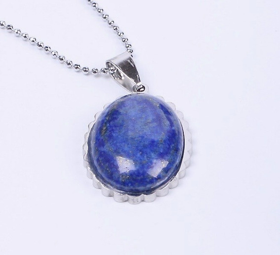Collar Lapislázuli Hecho En Titanio 18k Soleil