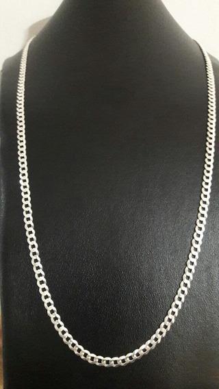 Corrente Cordão Prata 925 1x1 E 3x1 70cm 4mm