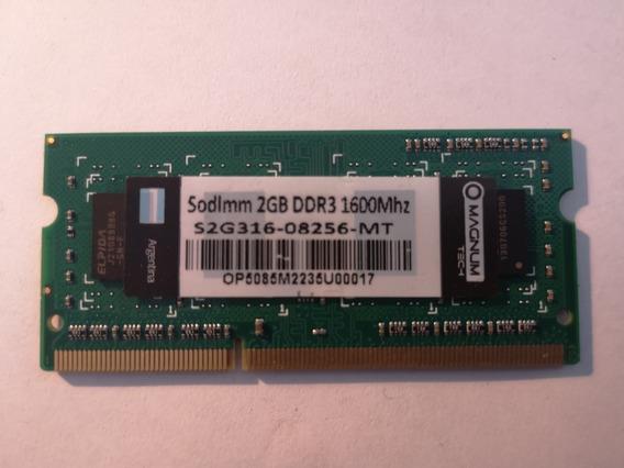 Combo X 6 Unid Memoria Sodimm 1.35v Magnum Ddr3 2gb 1600 Mhz