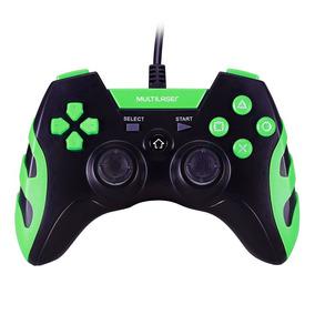 Controle Gamer P/ Ps3 Ps2 Pc Preto E Verde Js081 Multilaser