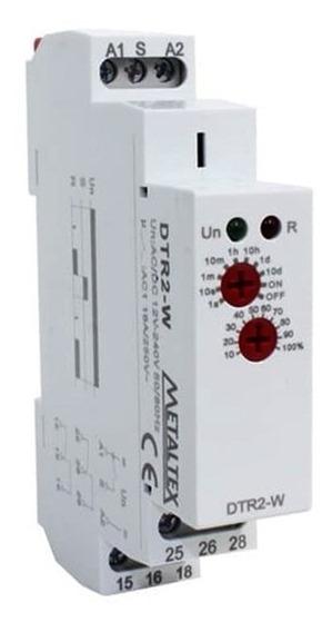 Relé De Tempo Retardo De Energização Dtr2-w 0.1seg-240hrs 12