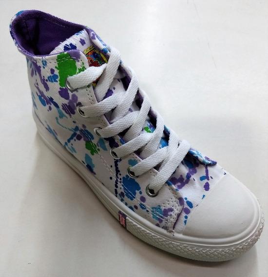 Zapatillas Botita Bubble Gummers Kids Niñas Lona Original