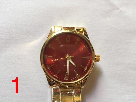 Relógio Feminino Diversos Luxo Pulseira Aço Barato Promoção