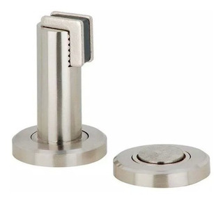 Reten Y Tope Magnetico De Piso Pared Para Puerta Acero Inox