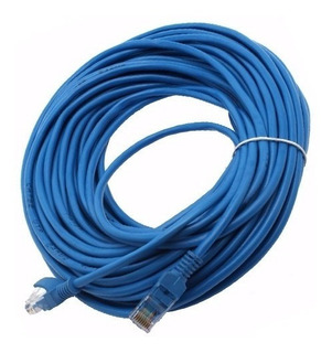 Cable Red Utp Cat 5 Lan 20 Mt Conector Funda Sellado Fabrica