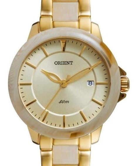 Relógio Orient Feminino Dourado Madreperola