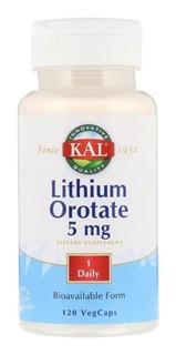 Kal Lithium Orotate 120 Cápsulas 5mg
