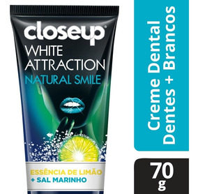 Creme Dental Close Up White Attraction Natural Smile 70g