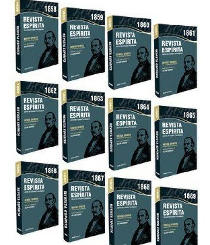 Revista Espirita Anos 1858 À 1869   - 12 Livros - Completa