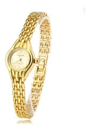 Relógio Feminino Folheado A Ouro 18k