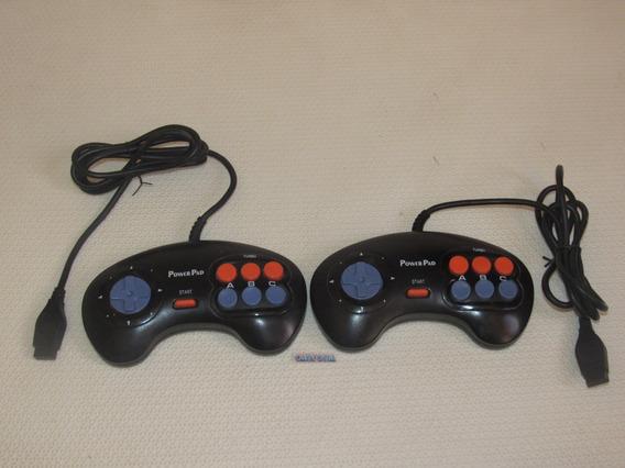 Controle Turbo Com Função Slow Para Mega Drive Marca Champ