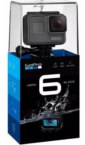 Câmera Filmadora Gopro Hero 6 Black 4k 12mp 10m Lacrada