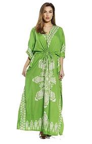 5c1e3047d Riviera Vestido Caftan Para Mujeres Playa Parque Color Green