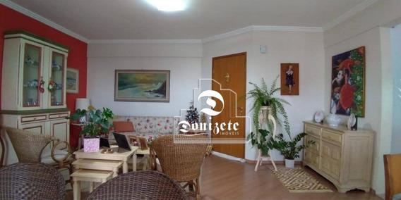 Apartamento Com 3 Dormitórios À Venda, 108 M² Por R$ 636.000,00 - Campestre - Santo André/sp - Ap0728