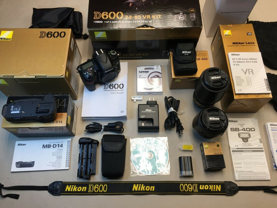 Nikon D600 Full Frame 24-85mm + 70-300mm + 6kg De Acessorios