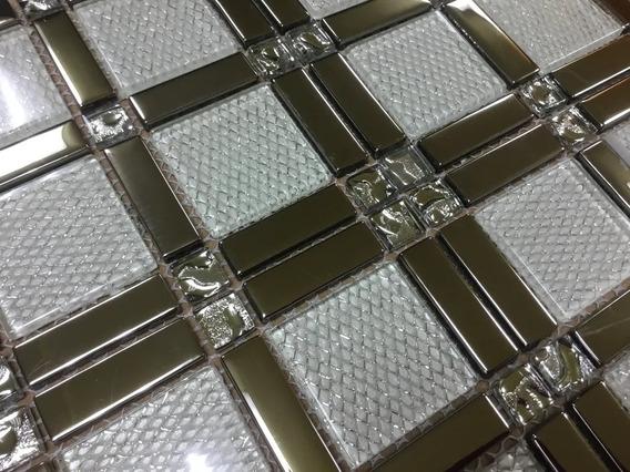 1pza X Malla Decorativa Mosaico P/muro Pared Cenefa Cristal