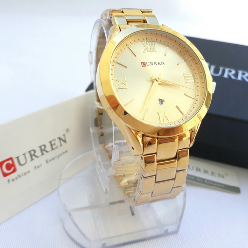 Relógio Feminino Curren Luxo Sofisticado D'luxe