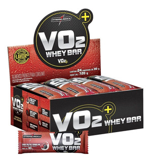 Vo2 Whey Protein Bar 24un Integralmédica - Promoção