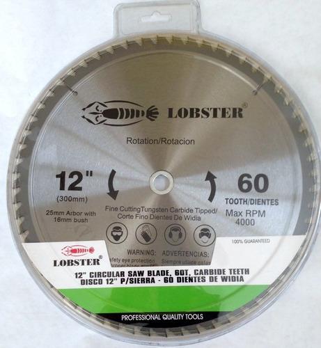 Disco Corte Madera 12  60 Dientes Lobster