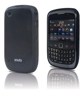 Case De Pc E Tpu Youts Blackberry Curve 8500 E 9300 - Preto