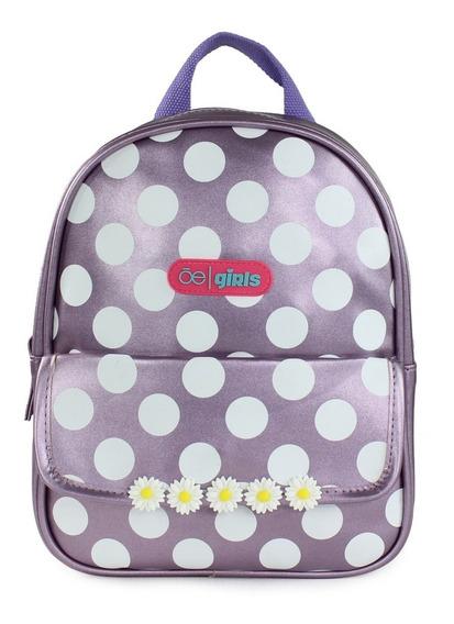 Backpack Cloe Girls Con Lunares Y Flores - Tienda Oficial